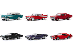 "Barrett Jackson \Scottsdale Edition"" Set of 6 Cars Series 5 1/64 Diecast Model Cars by Greenlight"""