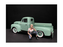 Car Girl in Tee Michelle Figurine for 1/18 Scale Models by American Diorama