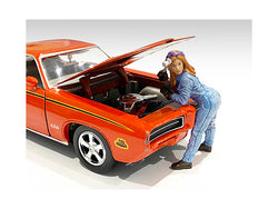 Retro Female Mechanic I Figurine for 1/18 Scale Models by American Diorama