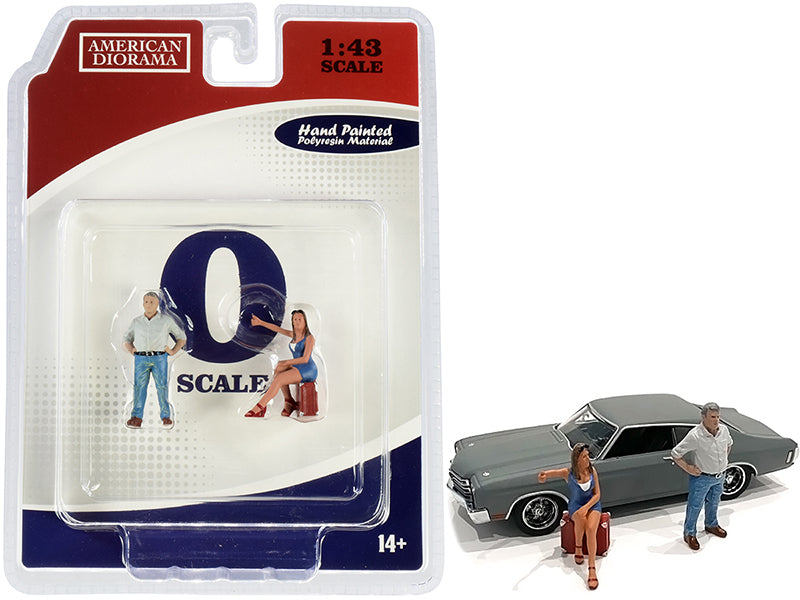 70s Style Two Figurines Set III for 1/43 Scale Models by American Diorama