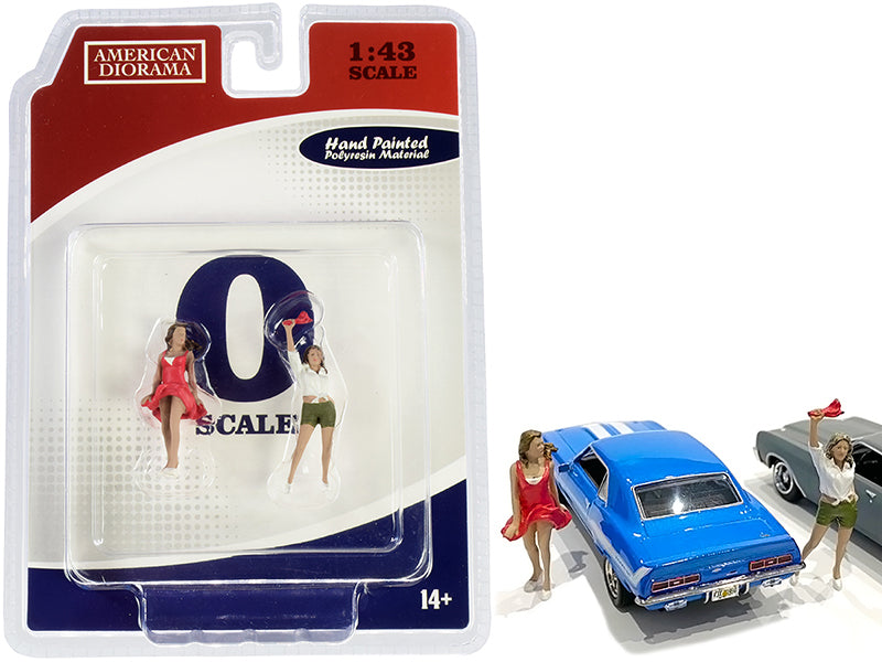 70s Style Two Figurines Set IV for 1/43 Scale Models by American Diorama