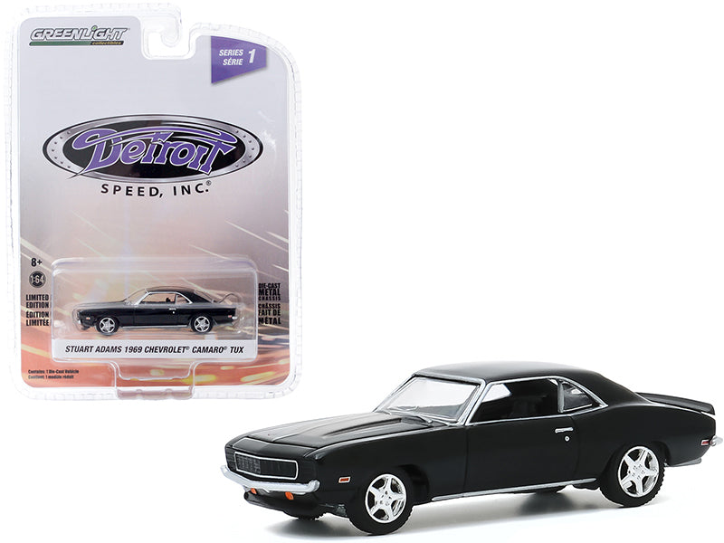 "1969 Chevrolet Camaro \TUX"" (Stuart Adams\') Black \""Detroit Speed Inc.\"" Series 1 1/64 Diecast Model Car by Greenlight"""