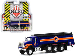 "2018 International WorkStar Tanker Truck \Union 76"" Dark Blue and Orange \""S.D. Trucks\"" Series 10 1/64 Diecast Model by Greenlight"""