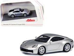 Porsche 911 (992) Carrera S Coupe Silver 1/87 (HO) Diecast Model Car by Schuco