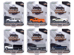 "\Dually Drivers"" Set of 6 Trucks Series 6 1/64 Diecast Model Cars by Greenlight"""