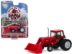 "1982 Tractor with Front Loader and Dual Rear Wheels Red \Down on the Farm"" Series 4 1/64 Diecast Model by Greenlight"""