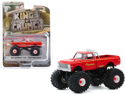 "1972 Chevrolet C-10 Monster Truck \Texas Tumbleweed"" Orange \""Kings of Crunch\"" Series 7 1/64 Diecast Model Car by Greenlight"""