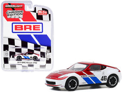"2019 Nissan 370Z #46 John Morton Chrome Red and White \BRE"" (Brock Racing Enterprises) \""Chrome Edition\"" Limited Edition to 2750 pieces Worldwide 1/64 Diecast Model Car by Greenlight"""