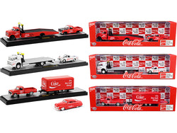 "Auto Tow Haulers \Coca-Cola"" Set of 3 pieces Limited Edition to 4750 pieces Worldwide 1/64 Diecast Models by M2 Machines"""