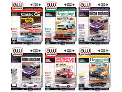 Autoworld Premium 2020 Set B of 6 pieces Release 4 1/64 Diecast Model Cars by Autoworld