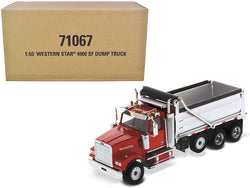 Western Star 4900 SF Dump Truck Red and Silver 1/50 Diecast Model by Diecast Masters