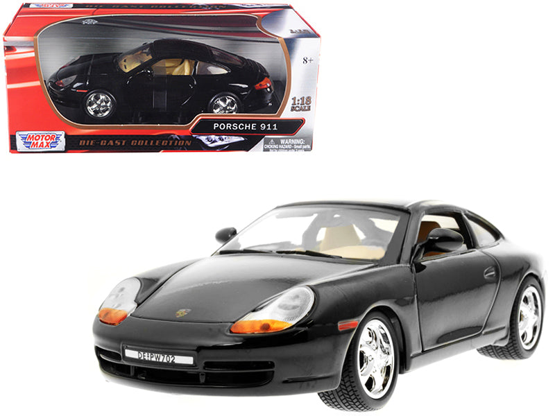 Porsche Carrera 911 Black 1/18 Diecast Model Car by Motormax