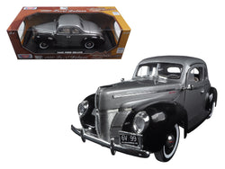 "1940 Ford Deluxe Grey with Black \Timeless Classics"" 1/18 Diecast Model Car by Motormax """