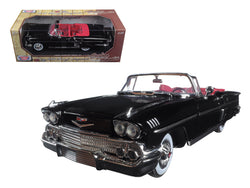 1958 Chevrolet Impala Convertible Black with Red Interior