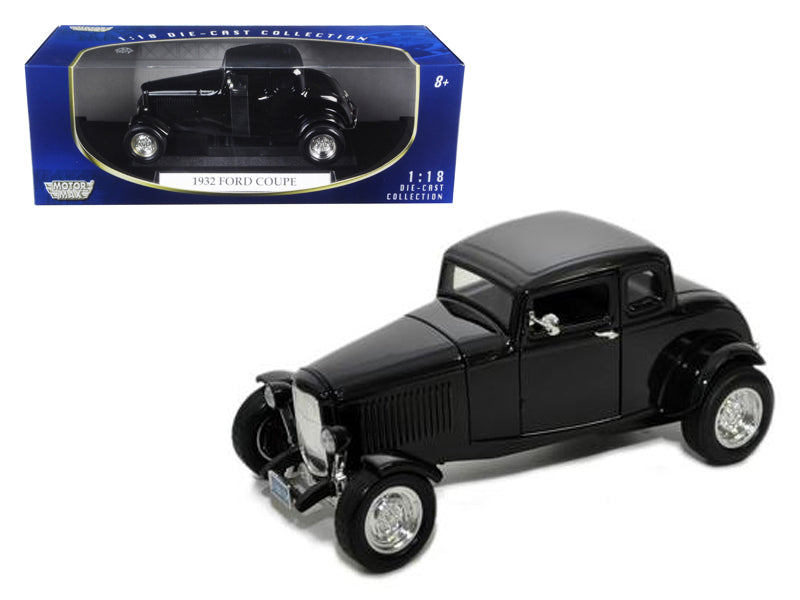 1932 Ford Coupe Black 1/18 Diecast Model Car by Motormax