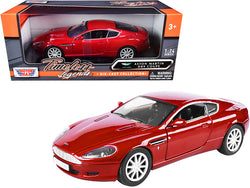 "Aston Martin DB9 Coupe Red \Timeless Legends"" 1/24 Diecast Model Car by Motormax"""