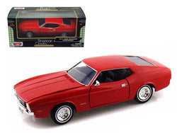 1971 Ford Mustang Sportsroof Red 1/24 Diecast Model Car by Motormax