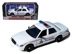 "2010 Ford Crown Victoria \Royal Canadian Police"" White 1/24 Diecast Model Car by Motormax"""