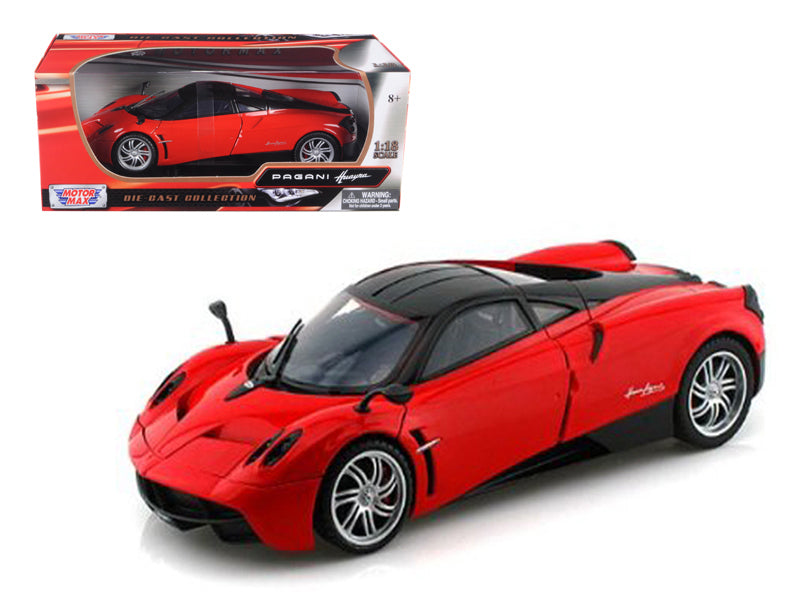 Pagani Huayra Red 1/18 Diecast Car Model by Motormax
