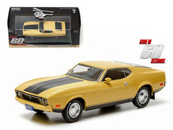"1973 Ford Mustang Mach 1 Yellow \Eleanor"" \""Gone in Sixty Seconds\"" Movie (1974) 1/43 Diecast Model Car by Greenlight"""