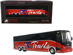 "Van Hool CX-45 Bus \DC Trails"" (Washington D.C.) Red and Black \""The Bus & Motorcoach Collection\"" 1/87 Diecast Model by Iconic Replicas"""