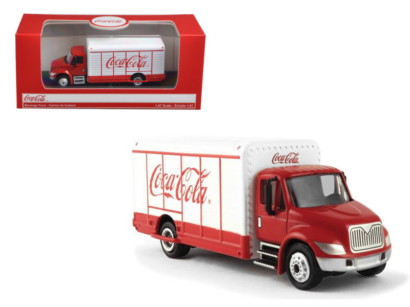 "\Coca-Cola"" Beverage Truck Red and White 1/87 Diecast Model by Motorcity Classics"""