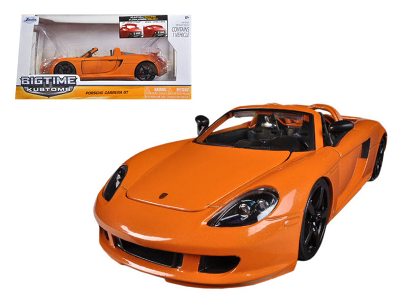 2005 Porsche Carrera GT Orange 1/24 Diecast Car Model by Jada