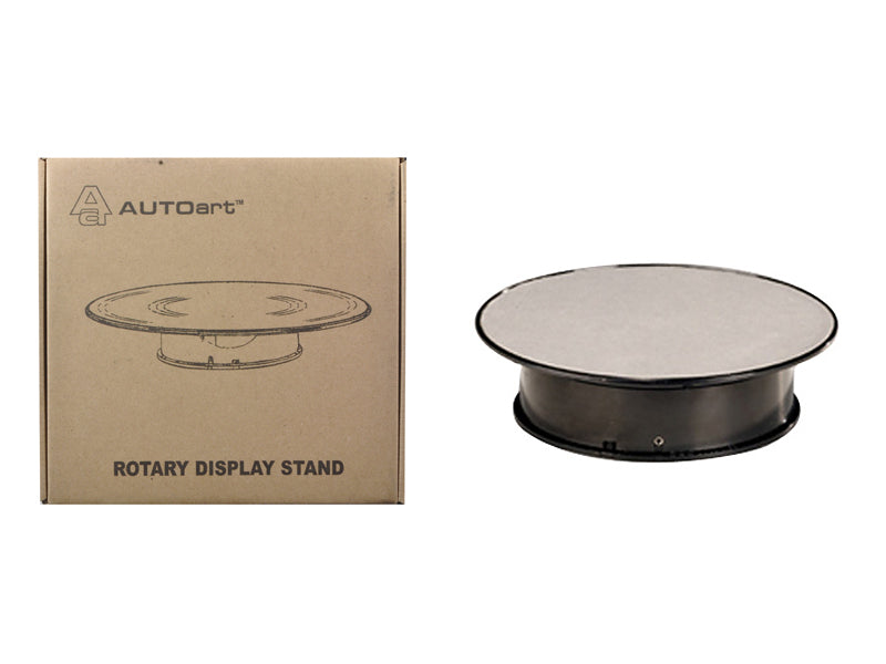 Rotary Display Turn Table 8 Inches with Silver Top 1/43, 1/64, 1/32, 1/24 by Autoart