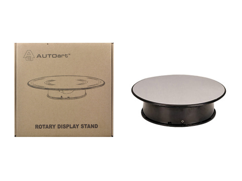 Rotary Display Turntable Stand Small 8 inches with Mirror Surface for 1/64, 1/43, 1/32, 1/24 Scale Models by Autoart
