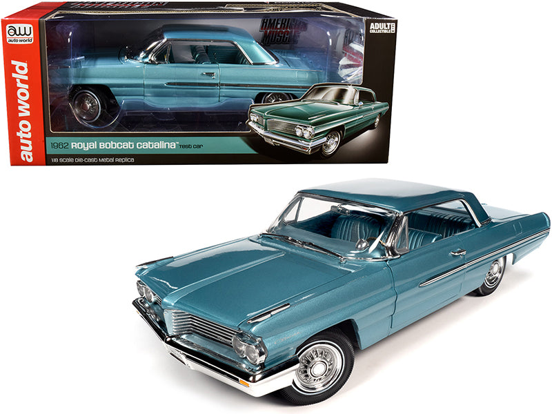 1962 Pontiac Royal Bobcat Catalina Hardtop Test Car Aquamarine 1/18 Diecast Model Car by Autoworld