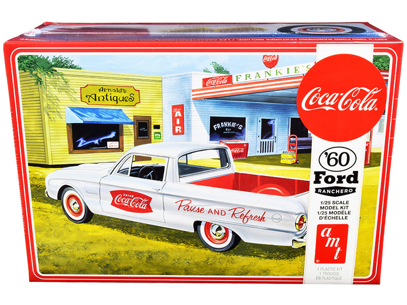 "Skill 3 Model Kit 1960 Ford Ranchero with Vintage Ice Chest and Two Bottle Crates \Coca-Cola"" 1/25 Scale Model by AMT"""