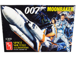 "Skill 2 Model Kit Space Shuttle with Boosters \Moonraker"" (1979) Movie (James Bond 007) 1/200 Scale Model by AMT"""