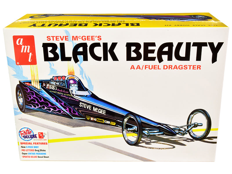 Skill 2 Model Kit Steve McGee\'s Black Beauty Wedge AA/Fuel Dragster 1/25 Scale Model by AMT
