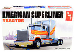 Skill 3 Model Kit American Superliner Semi Tractor 1/24 Scale Model by AMT