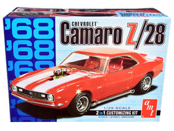 Skill 2 Model Kit 1968 Chevrolet Camaro Z/28 2-in-1 Kit 1/25 Scale Model by AMT