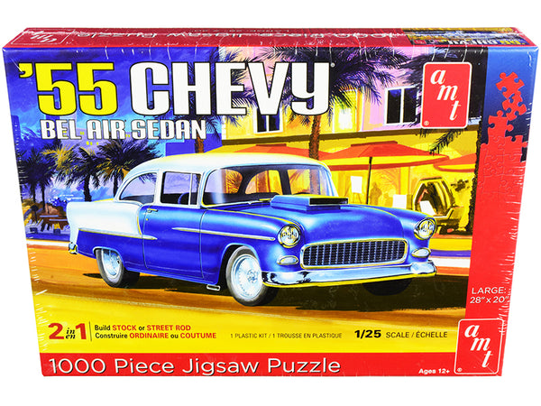Jigsaw Puzzle 1955 Chevrolet Bel Air Sedan MODEL BOX PUZZLE (1000 piece) by AMT