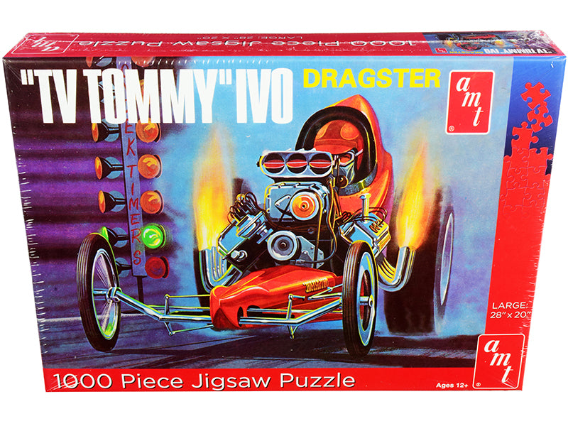 "Jigsaw Puzzle \TV Tommy"" Ivo Dragster MODEL BOX PUZZLE (1000 piece) by AMT"""