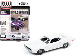 "1970 Dodge Challenger R/T White \Hemmings Muscle Machines"" Magazine Cover Car (September 2019) Limited Edition to 10120 pieces Worldwide 1/64 Diecast Model Car by Autoworld"""