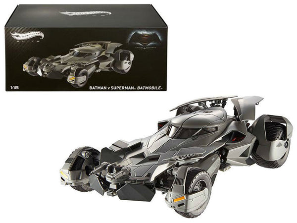 "Dawn of Justice Batmobile From \Batman vs Superman"" Movie Elite Edition 1/18 Diecast Model Car by Hotwheels"""
