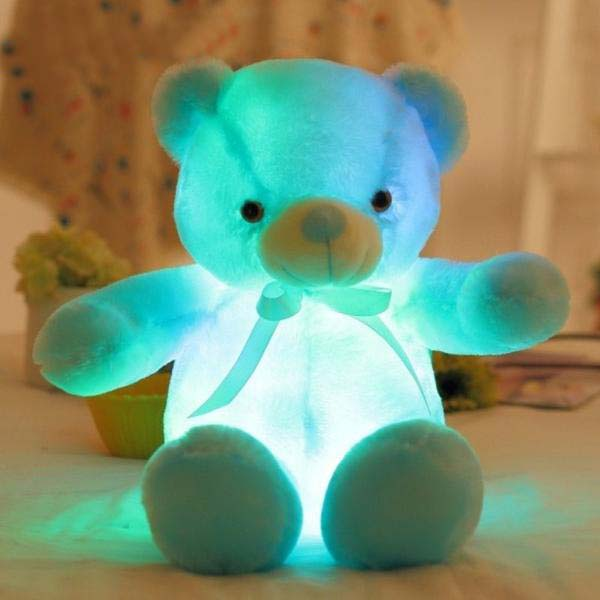 50Cm Creative Light Up Led Teddy Bear Stuffed Animals Plush Toy - Blue - Soft Toys