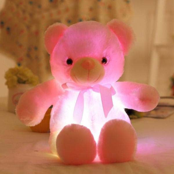 50Cm Creative Light Up Led Teddy Bear Stuffed Animals Plush Toy - Pink - Soft Toys
