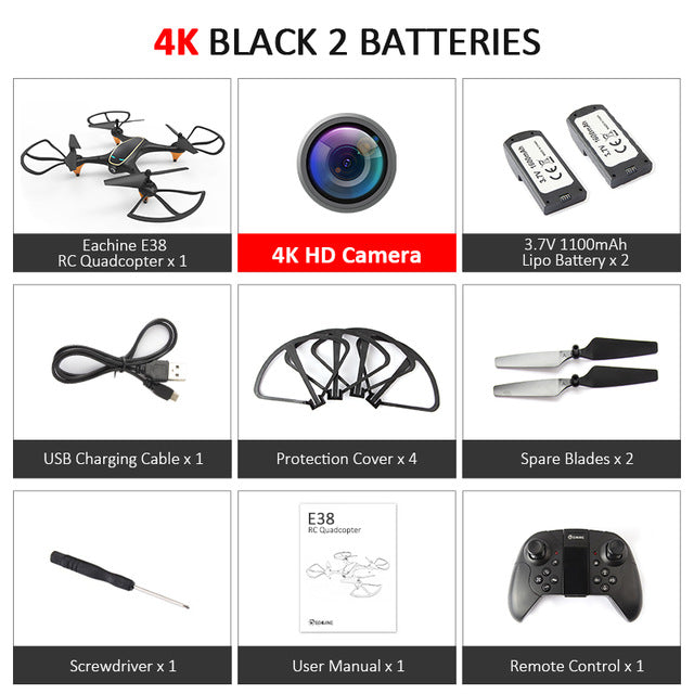 WiFi FPV RC Drone 4K Camera Optical Flow 1080P HD Dual Camera Aerial Video RC Quadcopter