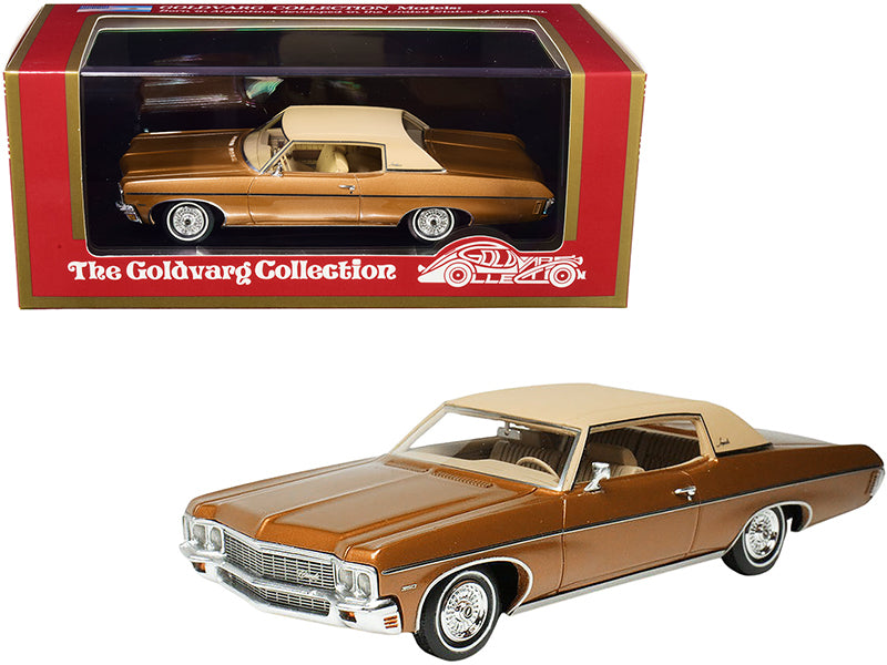 1970 Chevrolet Impala Custom Coupe Caramel Bronze Metallic with Matt Tan Top Limited Edition to 220 pieces Worldwide 1/43 Model Car by Goldvarg Collection