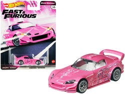 "Honda S2000 Pink with Graphics \Fast & Furious"" Diecast Model Car by Hot Wheels"""