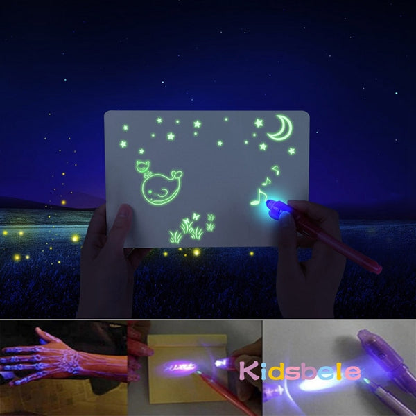 A3 Big Light Luminous Drawing Board Kids Tablet