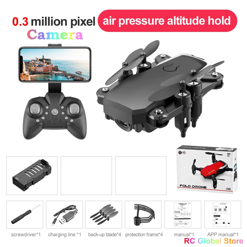 Oringal LF606 Mini RC Drone 4K HD with Camera Remote Control Helicopter
