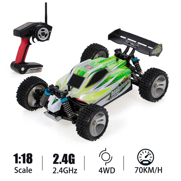 70Km/h High Speed Racing Car 540 Brushed Motor 4WD Off-Road Remote Control Electric Car