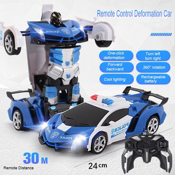 Transformation RC Robot Car Remote Control Car 2 IN 1 Deformation Robots