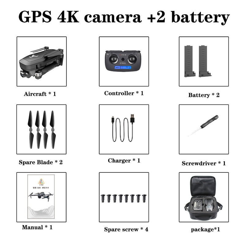 2020 NEW SG906 pro drone 4k HD mechanical gimbal camera 5G wifi gps system supports