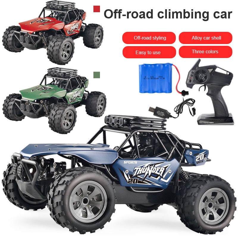 Alloy RC Car 1:18 Remote Control Off-road Climbing Car